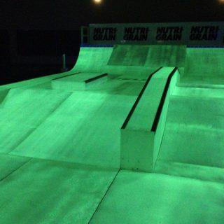 Glow In the Dark Skateboard Park for Nutri Grain Event